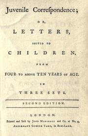 Cover of: Juvenile correspondence