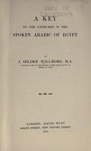 Cover of: A key to the exercises in the Spoken Arabic of Egypt