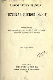 Cover of: Laboratory manual in general microbiology | Ward Giltner