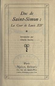 Cover of: La cour de Louis 14