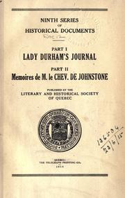Lady Durham's journal by Durham, Louisa Elizabeth Grey Countess