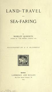 Cover of: Land-travel and sea-faring
