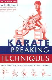 Cover of: Karate Breaking Techniques