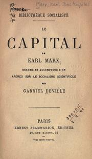 Karl marx domination of capital