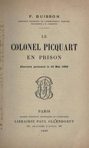 Cover of: Le colonel Picquart en prison