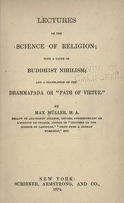Cover of: Lectures on the science of religion