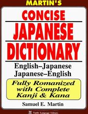 Cover of: Martin's Concise Japanese Dictionary: English-Japanese Japanese-English