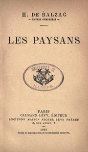Cover of: Les paysans