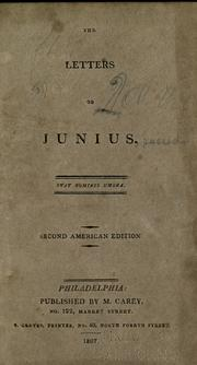 Cover of: Letters of Junius ... | Junius