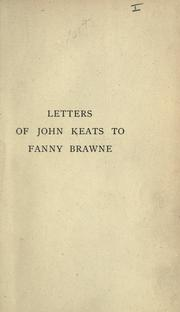 Cover of: Letters to Fanny Brawne