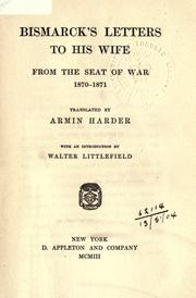 Cover of: Letters to his wife from the seat of war, 1870-71