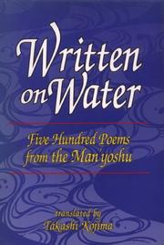 Cover of: Written on Water