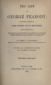 The life of George Peabody by Phebe A. Hanaford