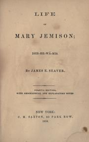 Cover of: Life of Mary Jemison | James E. Seaver