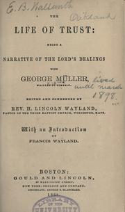 Cover of: The life of trust by George Müller