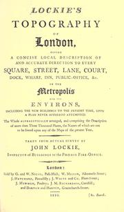 Cover of: Lockie's Topography of London by John Lockie