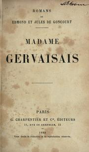 Cover of: Madame Gervaisais