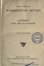 Cover of: Mahomet and his successors | Washington Irving