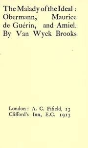 Cover of: malady of the ideal | Van Wyck Brooks