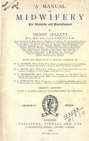 Cover of: manual of midwifery. | Henry Jellett