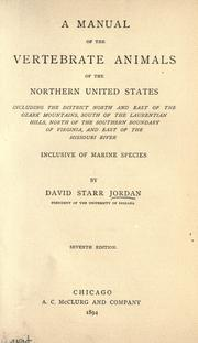 Cover of: Manual of the vertebrate animals of the northern U.S. ..: inclusive of the marine species.