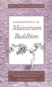 Cover of: Fundamentals of mainstream Buddhism | Eric Cheetham
