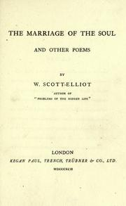 Cover of: The marriage of the soul and other poems