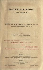 Cover of: McNeills code. (1908 edition) | Bedford Mcneill