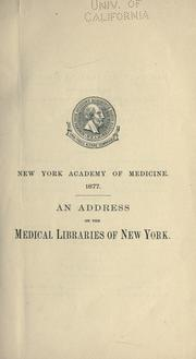 Cover of: Medical libraries