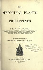 Cover of: The medicinal plants of the Philippines