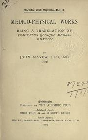 Cover of: Medico-physical works
