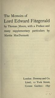 Cover of: Memoirs of Lord Edward Fitzgerald
