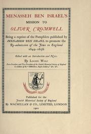 Cover of: Menasseh ben Israel's mission to Oliver Cromwell
