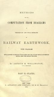 Cover of: Methods for the computation from diagrams of preliminary and final estimates of railway earthwork