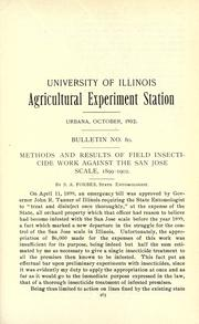 Cover of: Methods and results of field insecticide work against the San Jose scale, 1899-1902