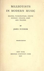 Mezzotints in modern music by James Huneker