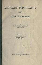 Cover of: Military topography and map reading | William Henry Waldron