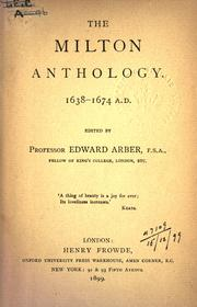 Cover of: The Milton anthology