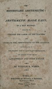 Cover of: The missionary arithmetic | William R. Weeks