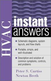 Cover of: HVAC instant answers | Peter Curtiss