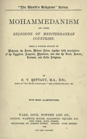 Mohammedanism and other religions of Mediterranean countries by Bettany, G. T.