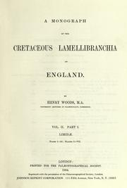 Cover of: A monograph of the Cretaceous Lamellibranchia of England