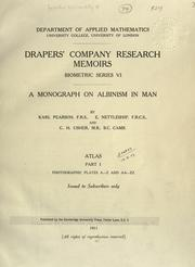 Cover of: A monograph on albinism in man