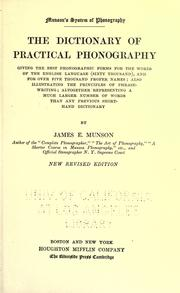 Cover of: Munson's system of phonography | James Eugene Munson