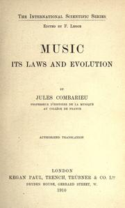 Cover of: Music, its laws and evolution: Authorized translation.