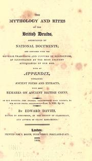 The mythology and rites of the British druids, ascertained by national documents by Davies, Edward