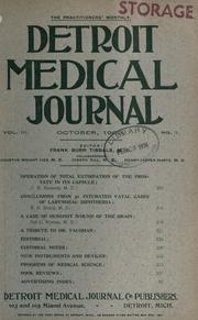 Cover of: Detroit Medical Journal. |