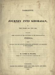Cover of: Narrative of a journey into Khorasan, in the years 1821 and 1822