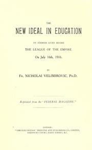 Cover of: The new ideal in education