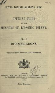 Official guide to the museums of economic botany by Royal Botanic Gardens, Kew
